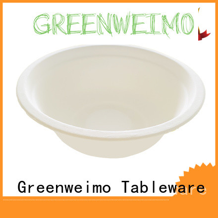 Greenweimo disposable compostable bowls for business for food