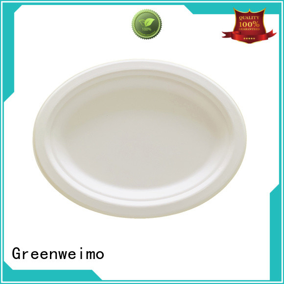 Greenweimo High-quality green paper plates Suppliers for hot food