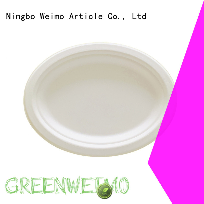 Greenweimo compostable plates compartment for party