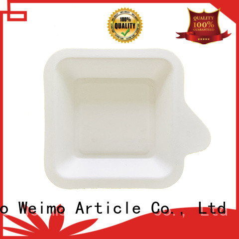 Greenweimo healthy biodegradable 5 compartment trays wheat for wet food