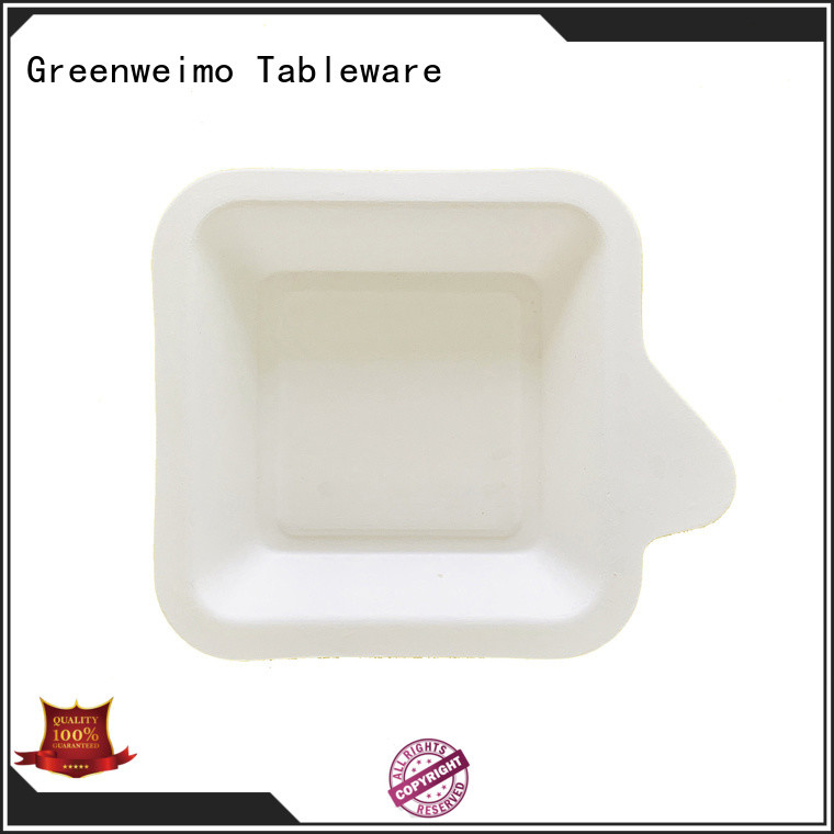 Greenweimo useful bagasse trays meet different market for party