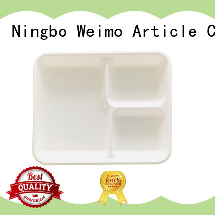 Greenweimo healthy biodegradable tray available for hot food