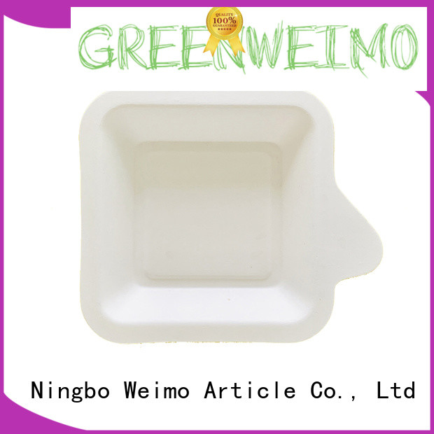 Greenweimo bagasse green tray factory for party