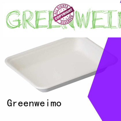 Greenweimo High-quality bagasse tray for business for oily food