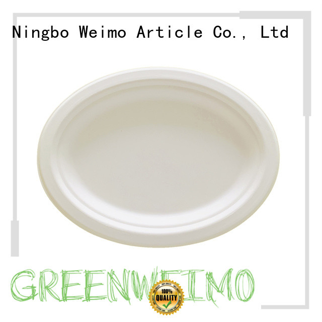 square biodegradable plate compartment for party Greenweimo
