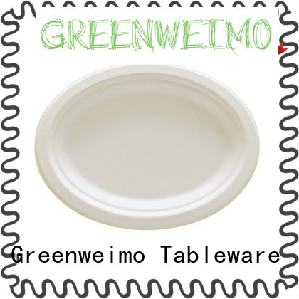 Greenweimo plate eco friendly disposable utensils for business for oily food