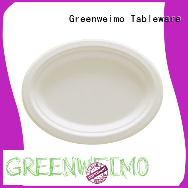 Greenweimo High-quality biodegradable sugarcane products company for hot food
