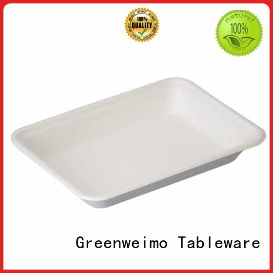 Greenweimo High-quality green paper tray for business for oily food