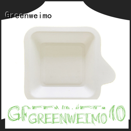 Greenweimo Latest green paper tray factory for wet food