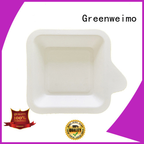 Greenweimo compartment eco lunch tray Suppliers for oily food