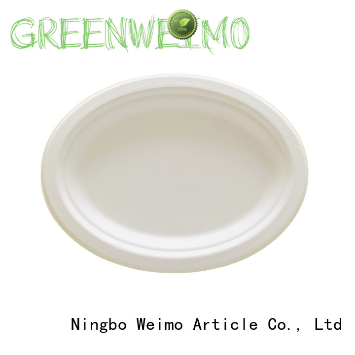Greenweimo round compostable plates compartment for activity