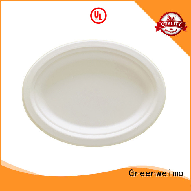 Greenweimo round sustainable disposable plates three for hotel