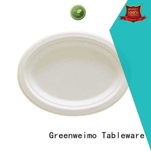 safe bagasse plate compartment for party