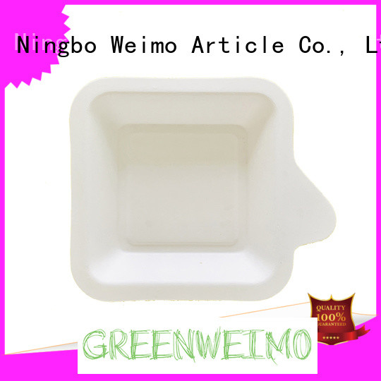 Greenweimo Custom biodegradable plates Supply for hot food