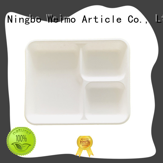 Greenweimo compostable trays available for wet food